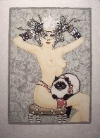 Cat's Meow PP  1986 Limited Edition Print by Olivia De Berardinis - 1