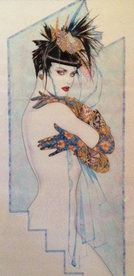 Edge of Night Pastel 1988 53x32 Original Painting by Olivia De Berardinis