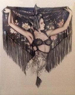 Untitled (Dancer) Painting 1988 45x38  Huge Works on Paper (not prints) - Olivia De Berardinis