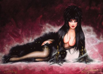 Elvira 2000 Double Signed Limited Edition Print by Olivia De Berardinis