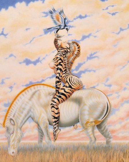 Zebra Lady 1985 HS  Limited Edition Print by Olivia De Berardinis