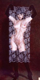 Piercing the Veil, Model Cindy Daguerre 1989 Limited Edition Print by Olivia De Berardinis