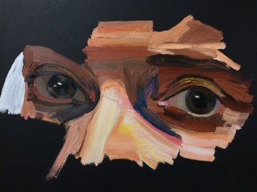 Poet 2016 79x59 Original Painting - Erik Olson