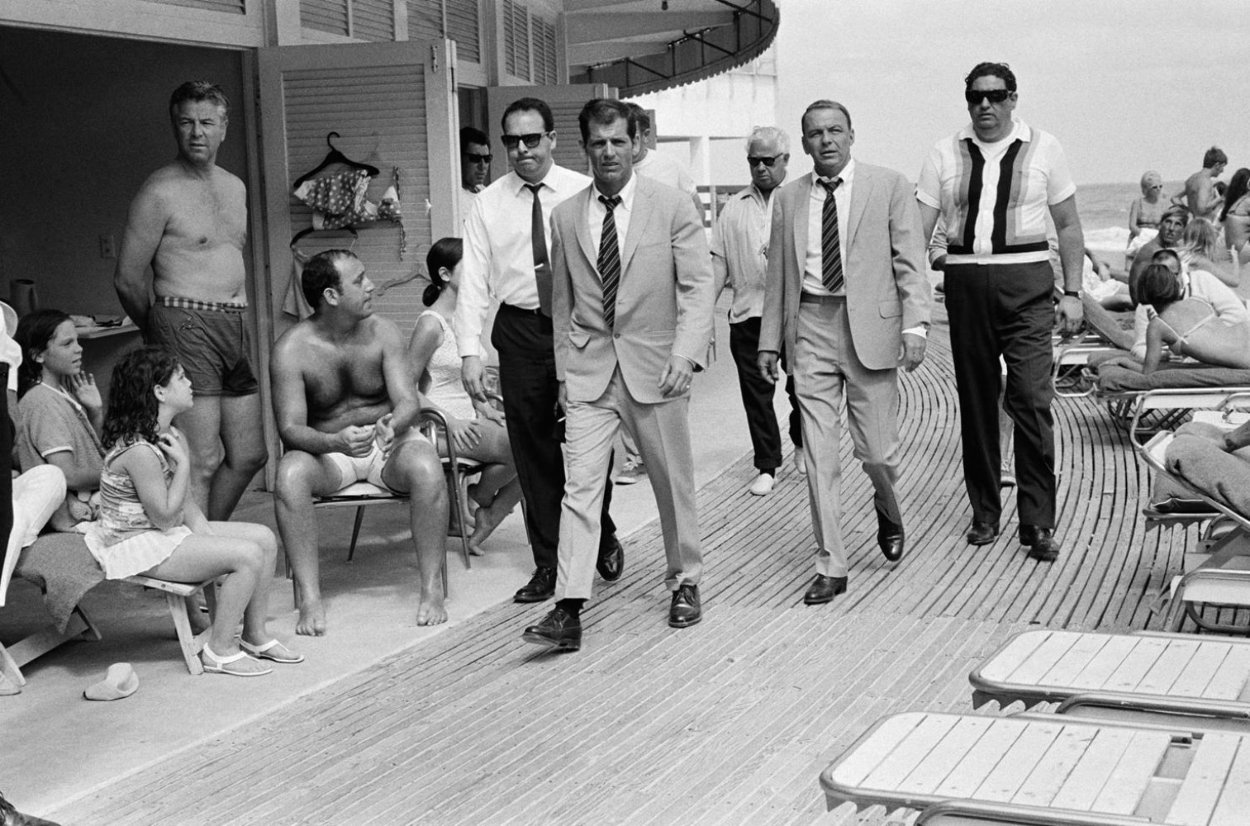 Frank Sinatra Fontainebleau Miami Boardwalk, Miami, Florida AP 1968 Super Huge Photography by Terry O\'Neill