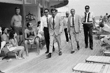 Frank Sinatra Fontainebleau Miami Boardwalk, Miami, Florida AP 1968 Huge Photography - Terry O'Neill