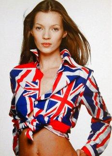 Kate Moss, Union Jack 1995 Photography - Terry O'Neill