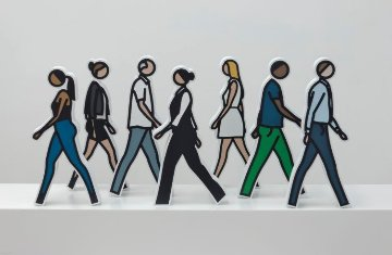 Walking Statuettes Resin Sculpture 2017 14.25 in Sculpture - Julian Opie