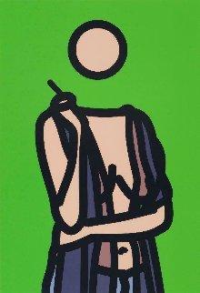 Ruth With Cigarette 2: Twenty-Six Portraits 2006 Limited Edition Print - Julian Opie