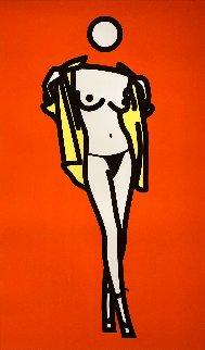 Woman Taking Off A Man's Shirt 2003 Limited Edition Print - Julian Opie