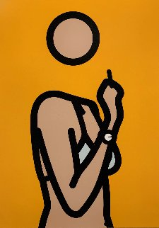 Ruth With Cigarette 3 AP 2006 Limited Edition Print - Julian Opie