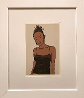 Bijou With Earrings AP 2006  Limited Edition Print by Julian Opie - 1