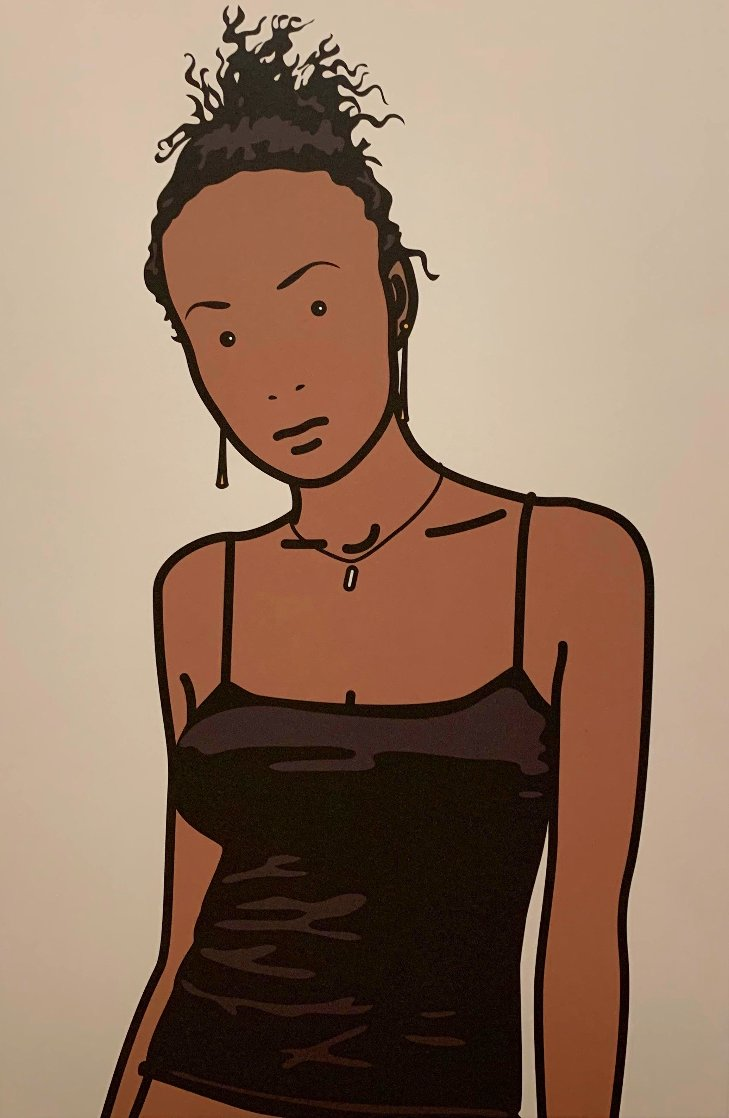 Bijou With Earrings AP 2006  Limited Edition Print by Julian Opie