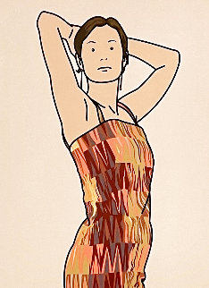 Anya With Cocktail Dress AP 2005 Limited Edition Print - Julian Opie