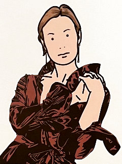 Anya With Hands Together AP 2005 Limited Edition Print - Julian Opie