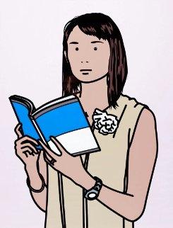 Hijiri With Book AP 2005 Limited Edition Print - Julian Opie