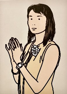 Hijiri With Hands Together AP 2005 Limited Edition Print - Julian Opie