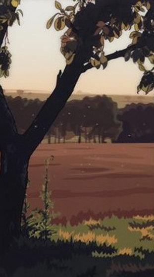 Evening Sun 2013  Limited Edition Print by Julian Opie