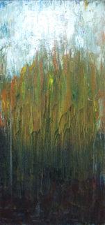 Untitled Landscape 32x12 Original Painting - Dennis Oppenheim