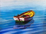 Love Boat 44x57 Original Painting - Orlando Quevedo