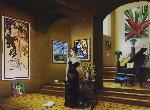 Madame X 45x57 Original Painting - Orlando Quevedo