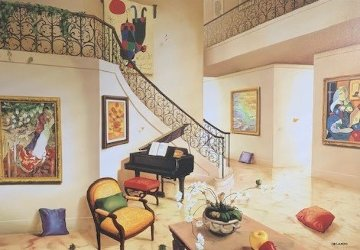 Piano's Corner Huge Limited Edition Print - Orlando Quevedo