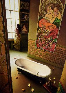 Without You 42x33 Original Painting by Orlando Quevedo