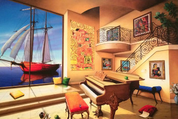 Love Boat AP Limited Edition Print by Orlando Quevedo