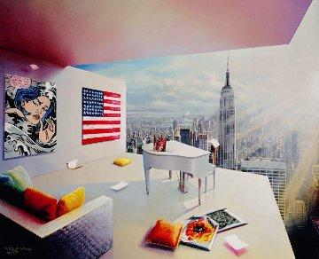 Manhattan View 2017 Limited Edition Print by Orlando Quevedo