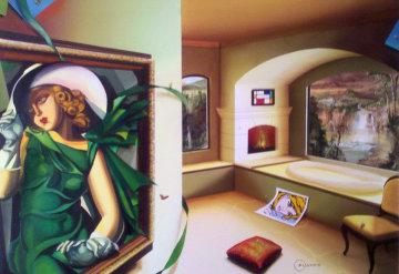 Serenity 24x36 Huge Original Painting - Orlando Quevedo