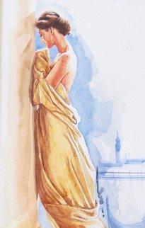 Promise Watercolor 28x24 Watercolor by Orlando Quevedo