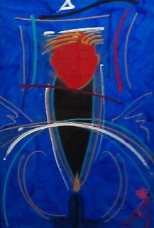Escencia 1994 40x35 Super Huge Original Painting - Agudelo-Botero Orlando (Orlando A.B.)