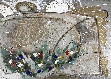 Un Angel Embellished AP  Limited Edition Print - Agudelo-Botero Orlando (Orlando A.B.)