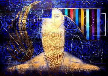 Movimiento Perpetuo 44x55 Original Painting - Agudelo-Botero Orlando (Orlando A.B.)