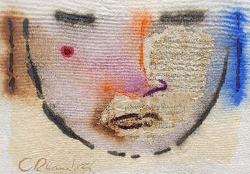 Self-Portrait Mixed Media 1985 30x24 Works on Paper (not prints) - Agudelo-Botero Orlando (Orlando A.B.)