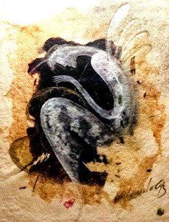 Renacimiento 1999 44x38 Original Painting - Agudelo-Botero Orlando (Orlando A.B.)