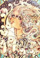 Dream of the Swan Serenade Watercolor 1977 5x7 Watercolor by Agudelo-Botero Orlando (Orlando A.B.) - 0