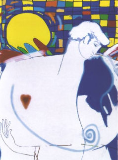 El Beso - The Kiss  Huge Limited Edition Print - Agudelo-Botero Orlando (Orlando A.B.)