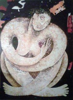 Regocijo  60x84 Super Huge Original Painting - Agudelo-Botero Orlando (Orlando A.B.)