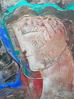 Les Artiste 1990 Original Painting - Agudelo-Botero Orlando (Orlando A.B.)