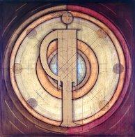 Equilibrio, Balance of Personalities 1997 60x60 Super Huge Original Painting by Agudelo-Botero Orlando (Orlando A.B.) - 0