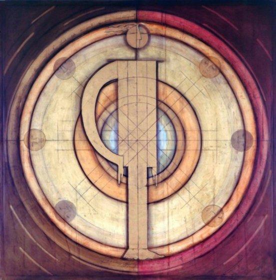 Equilibrio, Balance of Personalities 1997 60x60 Super Huge Original Painting by Agudelo-Botero Orlando (Orlando A.B.)