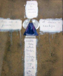 Cross  1996 36x28 Original Painting - Agudelo-Botero Orlando (Orlando A.B.)