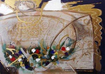 Un Angel-Llamado Maria Del Pilar 1991 Embellished Limited Edition Print - Agudelo-Botero Orlando (Orlando A.B.)