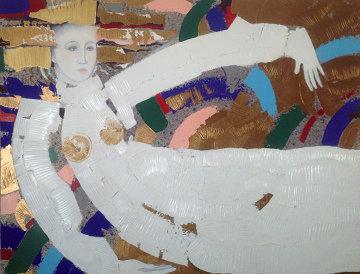 Emancipation 1988 46x48 Original Painting - Agudelo-Botero Orlando (Orlando A.B.)