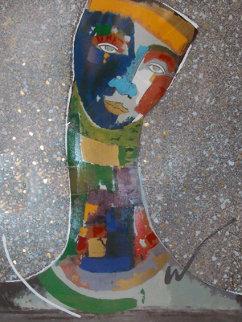 Untitled Painting 54x42 Original Painting - Agudelo-Botero Orlando (Orlando A.B.)