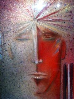 Entranas 1984 46x68 Original Painting - Agudelo-Botero Orlando (Orlando A.B.)