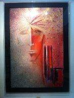 Entranas 1984 46x68 Huge Original Painting by Agudelo-Botero Orlando (Orlando A.B.) - 2