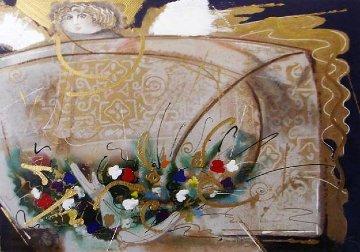 Un Angel Llamado Maria del Pilar 1992 46x37 Super Huge Limited Edition Print - Agudelo-Botero Orlando (Orlando A.B.)