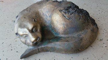 River Siesta - Quiet Otter Bronze Sculpture 24 in Sculpture - Leo E. Osborne