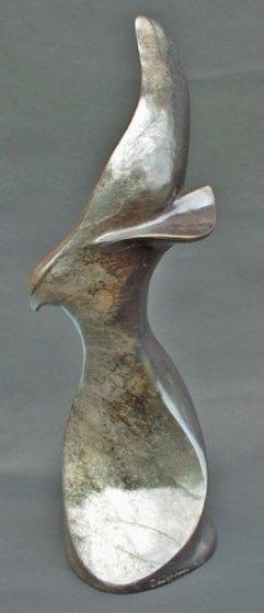 Soaring Bronze Sculpture 24 in Sculpture by Leo E. Osborne